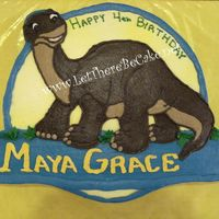 Land Before Time I crossed a picture of little foot and the Land Before Time logo to come up with this custom design