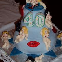 Naughty 40 Birthday Cake - 3 Tier