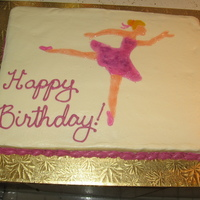 Ballerina Cake Ballerina cake for my grandmother's 80th birthday. She used to own a studio and danced and taught ballet for years. The ballerina...