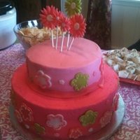 Hot Pink Baby Shower Cake