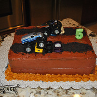 Monster Jam Birthday Cake Chocolate cake, Chocolate Buttercream,