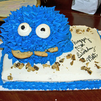 Cookie Monster Themed B-Day Cake   Cookie Monster cake