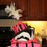 Pink & Zebra Birthday Cake Custom designed by the Birthday girl. All Pink & Zebra!