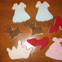 Wizzard Of Oz Cookies I made 6 doz. of these for a little girl who played Dorothy in her school play. They are shortbread with Antonia74's icing. I was...