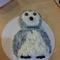 Owl Red Velvet cake with Marshmallow buttercream icing.
