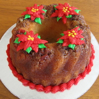 Poinsettia Cake This is a rum cake with BC poinsettia's. TFL.