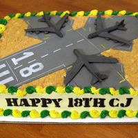 Barksdale Air Force Base B52's This is a cake I made for my son's 18th birthday. He's really into planes and grew up in Bossier City, which is the home of the...