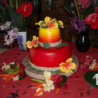 Joyce's 70Th Hawaiian Birthday Party Made this cake for my Aunt it was a Hawaiian themed party. I saw Brit 13 cake on Cake Central and decided that was the one for Joyce. Thank...