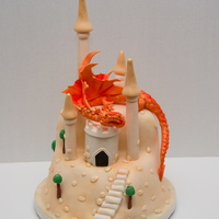 A Version Of Debbie Brown's Dragon Castle Gumpaste dragon, and castle, A version of Debbie Brown's