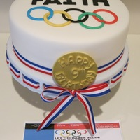 Simple Olympic Theme Birthday Cake   Simple Olympic theme birthday cake
