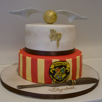 Harry Potter Cake Hogwarts Golden Snitch Nimbus 2000   Harry Potter Cake, Hogwarts, golden snitch, Nimbus 2000