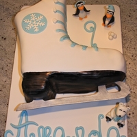 Ice Skate Cake I made this ice skate cake for an ice skating / winter wonderland birthday party. It was the first cake that I've made for someone...