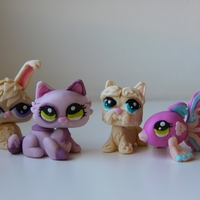 Littlest Pet Shop Figures These are Littlest Pet Shop figures I made for my daughter's birthday cake. They were modeled after some of her Pet Shops.