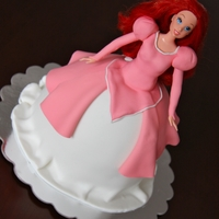 Princess Ariel Cake I made this cake for my daughter's 8th birthday. Ariel is her favorite princess! Red velvet cake with fondant.