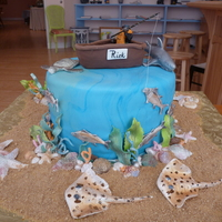 Saltwater Fisherman This cake was 2 layers french vanilla with a chocolate layer in the middle Filling was buttercream mixed with red pepper jelly (client&#039...