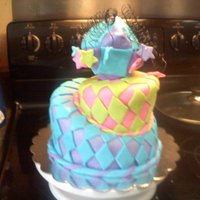 "First ""mad Hatter"" Cake cake was made for a 10 year olds mad hatters tea party. it was my fist attempt at this kind of cake and by the time we got to the party the..."