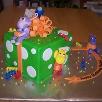 Backyardigans This cake was such a challenge and so much fun! Buttercream with fondant accents. I made all the little figures out of fondant. Thanks for...