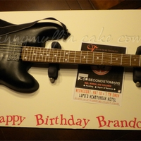 Black Electric Guitar   Chocolate cake with mmf and 50/50 accents.