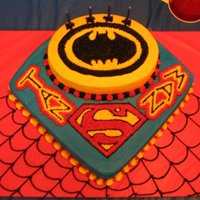 Spiderman, Superman, And Batman Oh My   Sons birthday cake, he couldnt make up his mind what superhero he wanted so i gave him all lol. Decorated in BC.