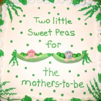 Sweet Peas   Iceed in BC with fondant sweet peas.