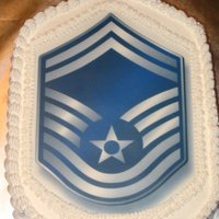 Senior Master Sergeant Decorated in bc with edible image