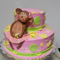 Pink Monkey A lady asked me to make a cake like a picture she sent and this is what I came up with.