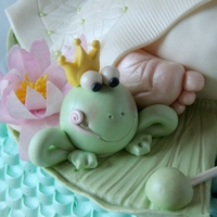 Frog Prince Baby Shower I know people think the baby bum cakes are kinda of weird. But I have done 5 or 6 of them and I love that you can personalize for themes....