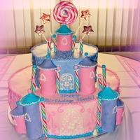 Castle Cake Buttercream with fondant accents