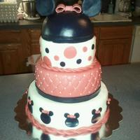 Minnie Mouse Combination of two cakes I found here, 1st birthday cake.