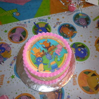 Backyardigans Birthday   Strawberry cake with buttercream and an edible image. For my daughter's second birthday.