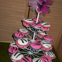 Zebra Cupcakes Zebra Cupcakes using Wilton design sheets and ruffle baking cups