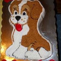 Ryland's Puppy Wilton Cake Pan, Chocolate Cake, Buttercreme IcingColored to match recepient's dog