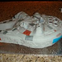 Millennium Falcon Made for my son's 5th birthday. He loved it & so did his friends.