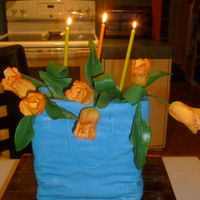 My Birthday Cake With Tulips My Birthday Cake with tulips.