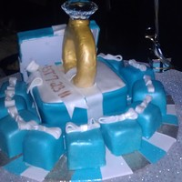 Engagement Cake Engagement cake with little Tiffany boxes