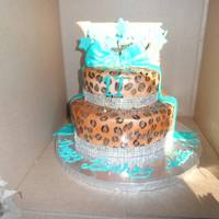 Leopard Print With Turquoise Accents