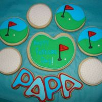 Golf Cookies For Fathers Day. NFSC with antonia74 icing.