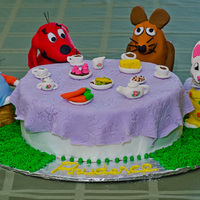 Tea Party With Clifford, Max And Ruby And Die Maus My daughter wanted a cake with Clifford, Max and Ruby and Maus (from a famous German kids' TV show - Sundung mit Der Maus) so I...