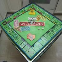 Monopoly Groom's Cake  I made this cake for the fiance a friend who was getting married. It was a monopoly board that was customized with things about him on the...