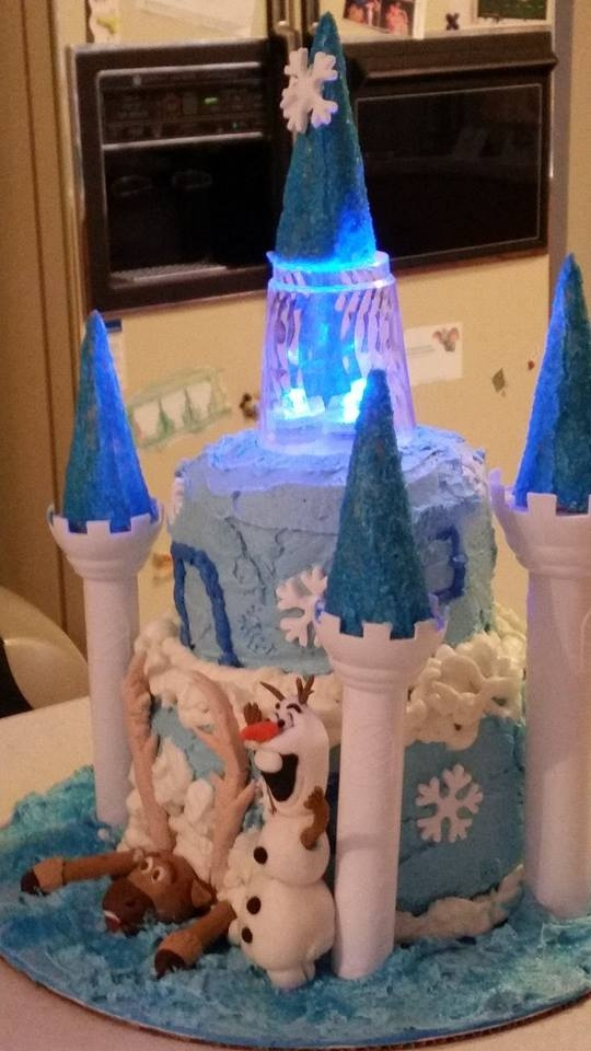 Frozen Castle Birthday Cake