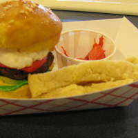 Cheeseburger Slider Cupcakes & Fries The cupcakes are yellow cake with a sugar glaze followed by sesame seedis, followed by anu additional coat of sugar glaze.(The additional...