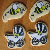 Bees And Buggies Sugar cookies covered in RI.