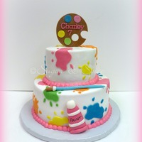 Buttercream Iced Cake With Fondant Details For A Little Girl Named Charlotte Buttercream iced cake with fondant details for a little girl named Charlotte.