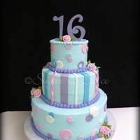 Aqua Purple Pink Sweet 16