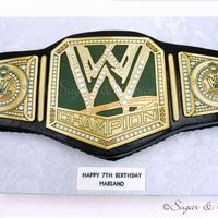 Birthday Cake For A Wrestling Fan Birthday cake for a wrestling fan.