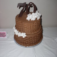 70Th Birthday Cake This was probably the last time I ever did basket weave- it was for my mom and she requested it! The numbers were made with chocolate. Cake...