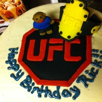 Ufc Cake The little man was meant to look like my neighbor who the cake was for.