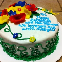 Primary Colors This was a combo birthday/going away cake. The friend was leaving to teach primary school, hence the color scheme.