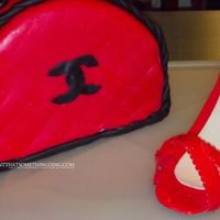 Purse Cake And Gum Paste Shoe My first attempt at both of these