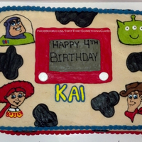 Toy Story Toy Story Cake, drawn free-hand